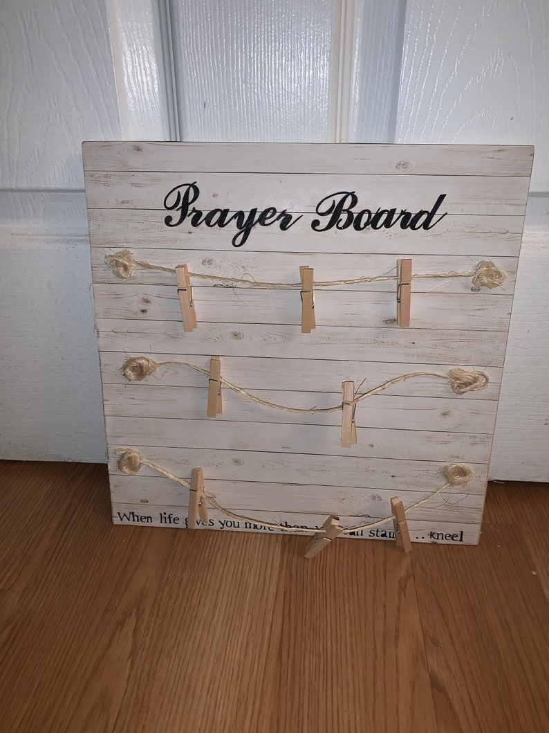 Prayer Note Message Board Wedding decor Birthday gift idea Retirement gift Bridal Baby Shower