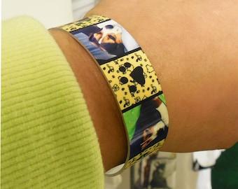 Personalized Bracelet, Adjustable Cuff Bracelet, Photo jewelry