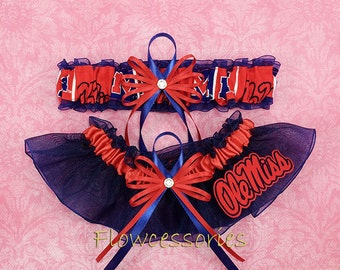 keepsake personalize now available upon request University of Mississippi Rebels Pick Charm Ole Miss Rebels handmade bridal garter