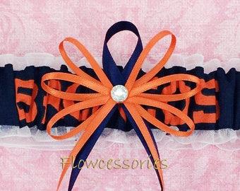 Pick Charm DENVER BRONCOS handmade wedding bridal garter
