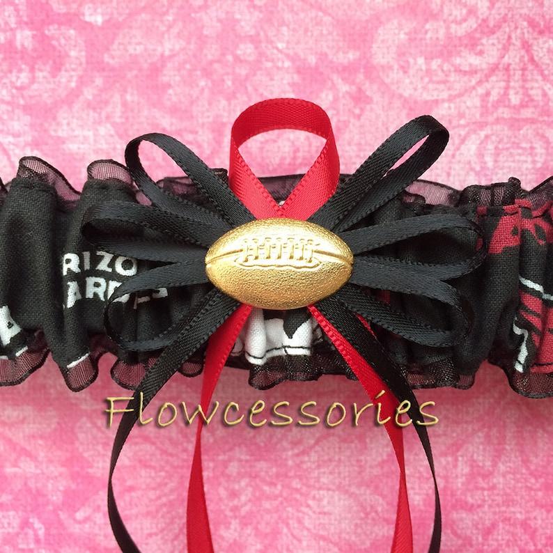 ARIZONA CARDINALS handmade bridal prom garter pick charm toss