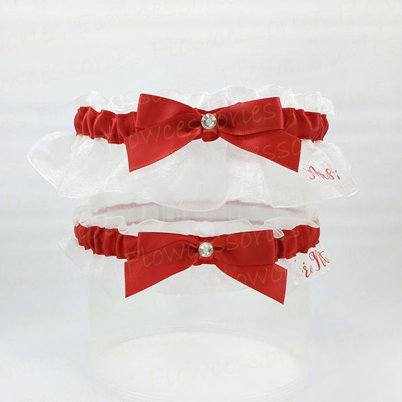 Personalize Keepsake Garter Set You/'re Next Toss or Nice Catch Toss Personalized handmade Red Bridal Wedding Garters