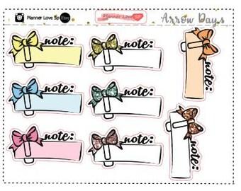 Color Full Note clip Art Sticker set