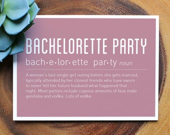 8 Bachelorette Party Thank You Cards Stationery