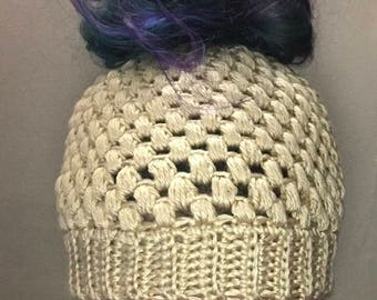 Messy bun hat, pony tail hat, messy bun beanie, bun hat, runners hat, elastic messy bun hat, crochet bun hat, crochet ponytail hat, crochet