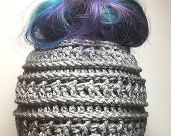 Messy Bun Hat Pony Tail Hat Messy Bun Beanie Bun Hat Etsy