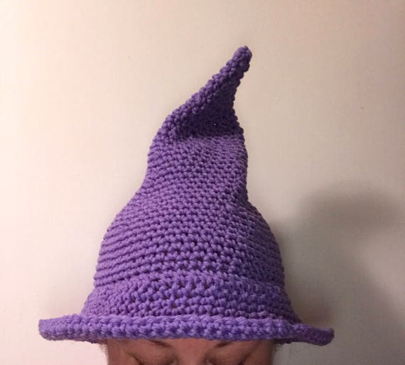 Witch Hat Crochet Witch Hat Warm Witch Hat Winter Witch Etsy