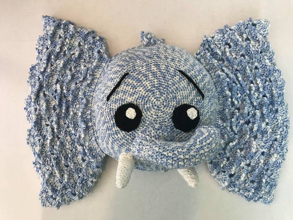 Elephant Pillow Crochet Elephant Pillow Jeffery Elephant Etsy