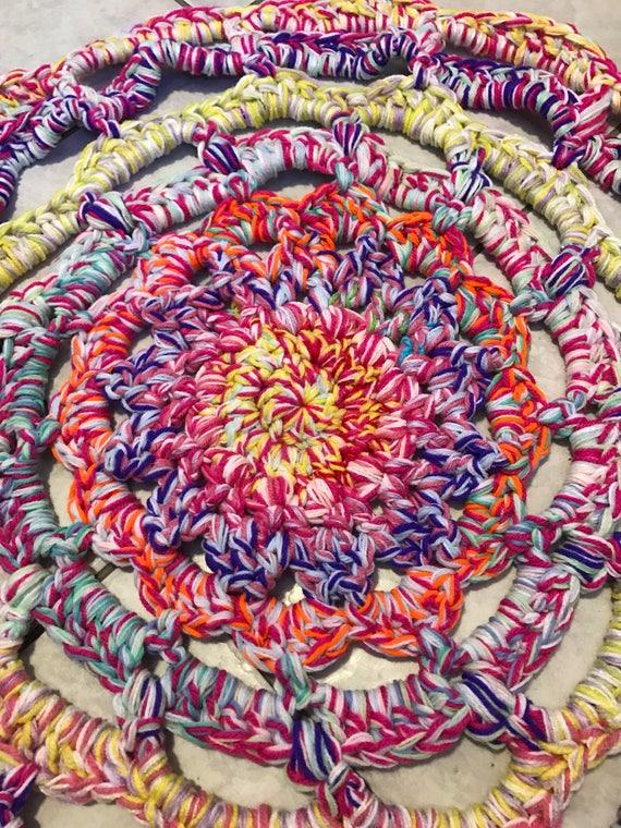 Tapis Licorne Crochet Brillant Tapis Tapis Tapis Au Crochet
