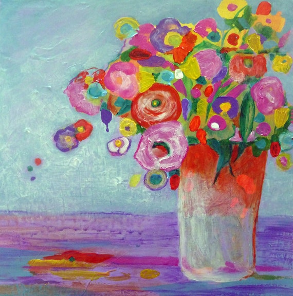 Spring Flowers In Vase Original Fine Art A Lovely Image For Etsy
