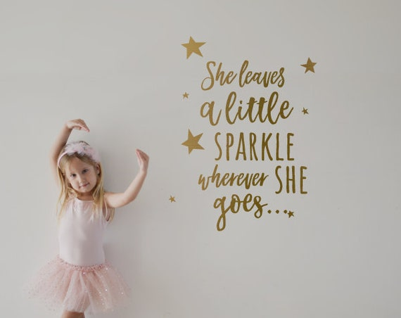 She leaves a Little Sparkle...