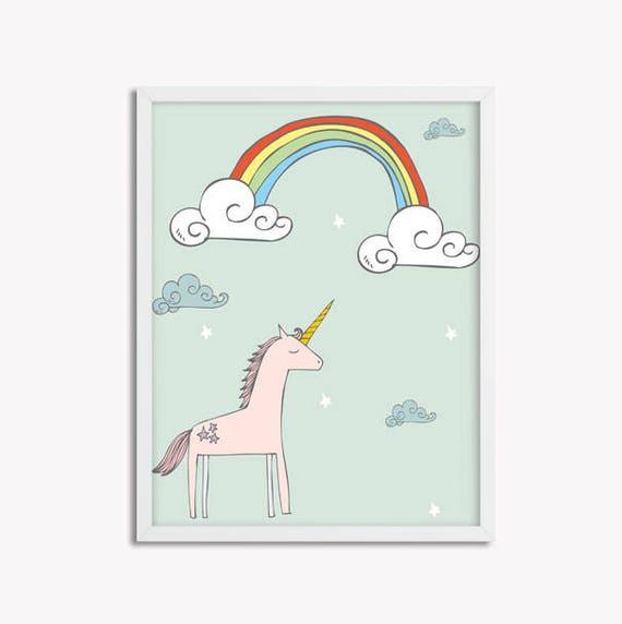 The Happy Unicorn Printable Wall Art
