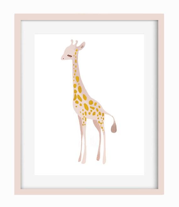 Stand Tall  Giraffe - Art Print