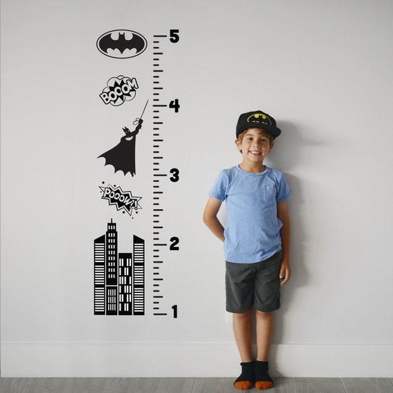 Growth Chart Decal: Batman / Sticker Height Chart Wall decal / Ruler Decal Nursery decor / Kids room decor / Batman