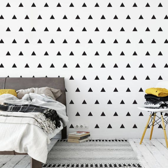Set of 112 Triangle Wall Stickers, Wall Pattern Decals, Wall Stickers, Triangle Decals, Triangle Stickers, Geometric shapes, Confetti Decals
