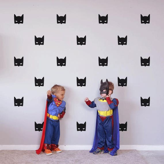 Batman Masks Decals, Boys Rooms, Boys Wall Decals, Batman Decals