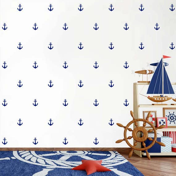 Mini Anchor Decals, Anchors wall decal, Anchor Decals, Nursery decal - Home Decor