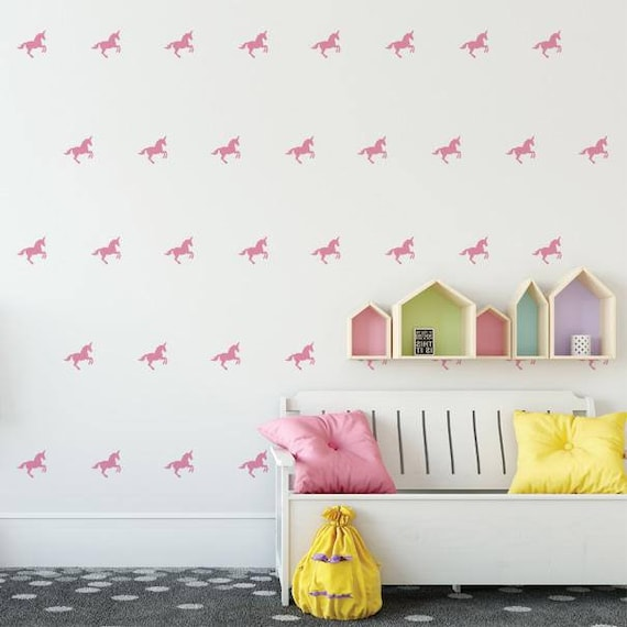 Mini Unicorns, Unicorn Wall Decals - Wall Decor, Gift for Her, Unicorn Decor, Nursery Decor, Gift for Daughter, Unicorn, Vinyl Wall Decal