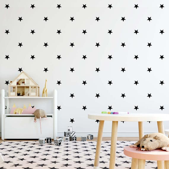 Star Wall Decal, Mini Size Star Pack, Kids wall decoration, Nursery Wall Decal