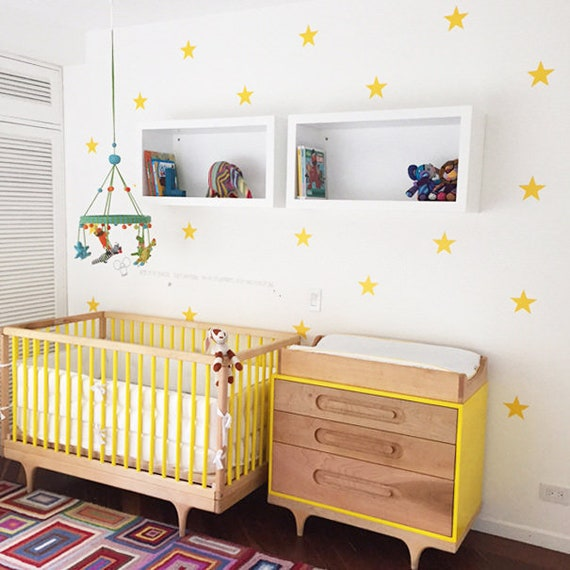 Medium Stars,  Star Wall Decal, Mini Size Star Pack, Kids wall decoration, Nursery Wall Decal