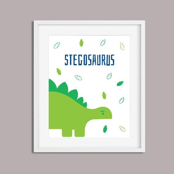 Printable Modern Nursery Decor - Dino Dino