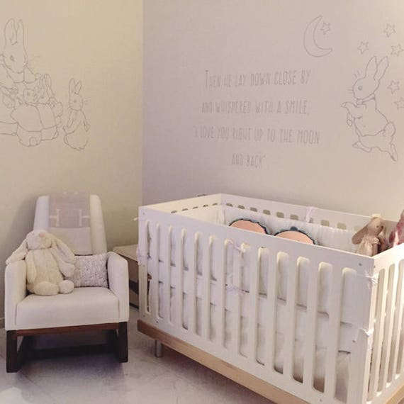 Peter Rabbit Decal - Love you to the moon and back