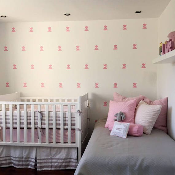 Mini Tulips, flower Decals, Nursery Decorations, Girls Room