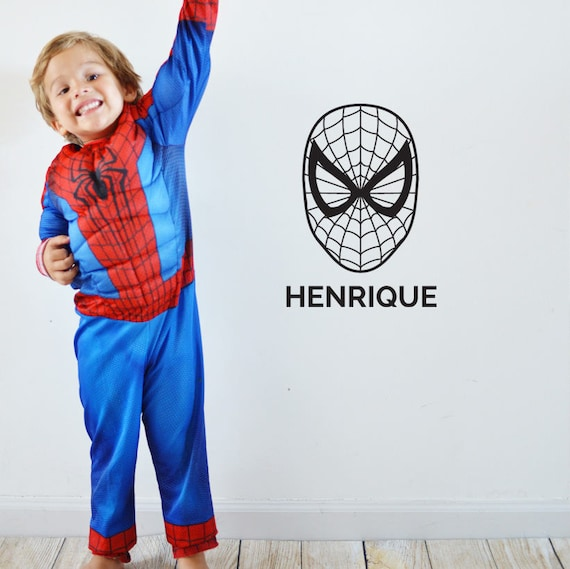 Personalized Spiderman Icon Decal