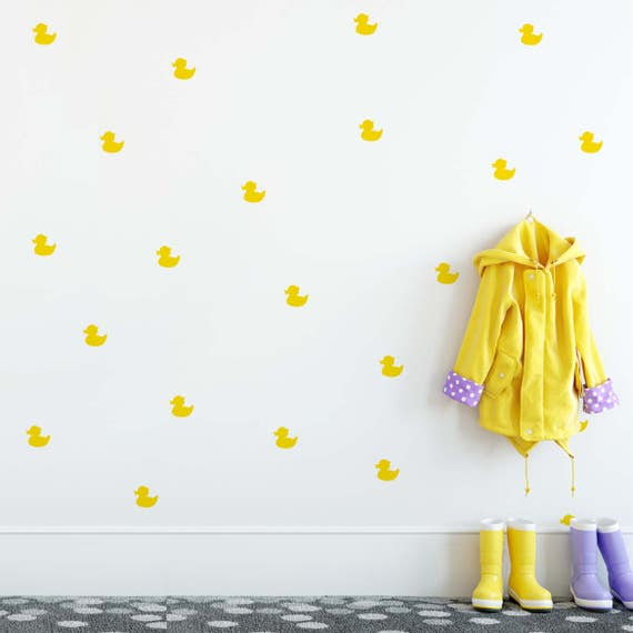 Rubber Duck Wall Stickers, Wall Pattern Decals, Wall Stickers, Duck Decals, Duck Stickers, Confetti Decals, Duck Decals