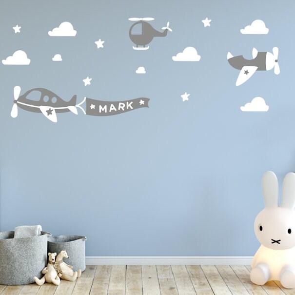 airplane decals airplane wall decals - childrens room decor kids