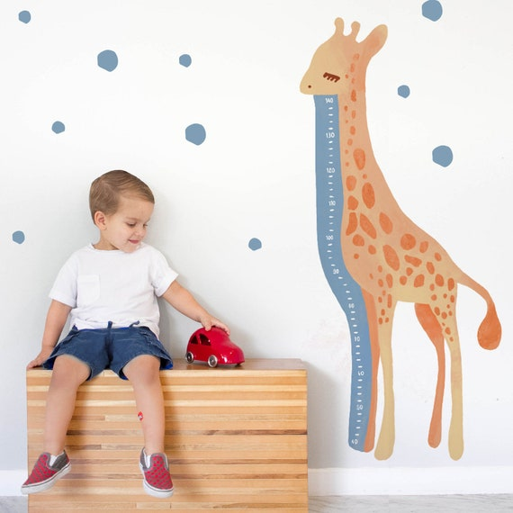 Savana The Growth Chart Decal - Fabric Decal - Watercolor