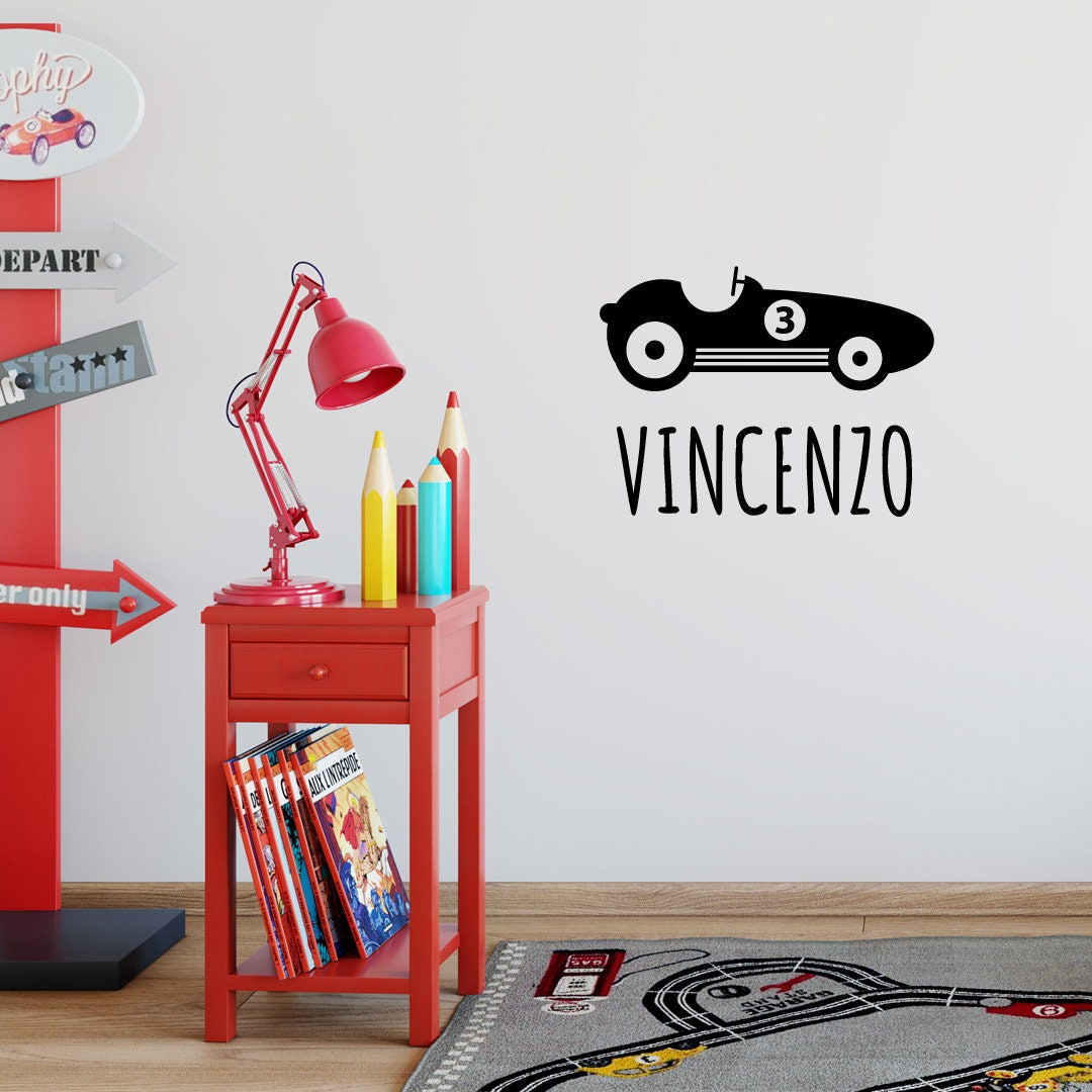 Personalized Name Wall Decal Set For Boys Nursery And Kids Rooms