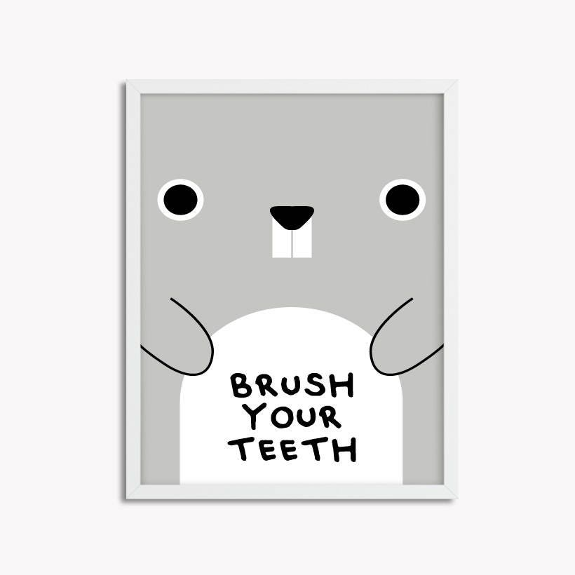 Brush Your Teeth Printable Wall Art