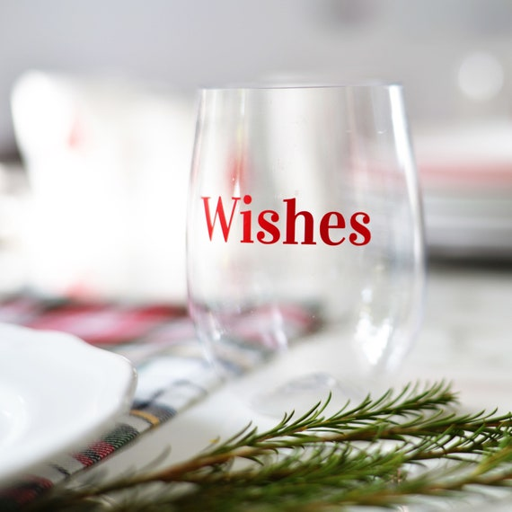 Good Wishes Holiday Decals, Glass Decals, Holiday Vinyl Decals, Christmas Decoration