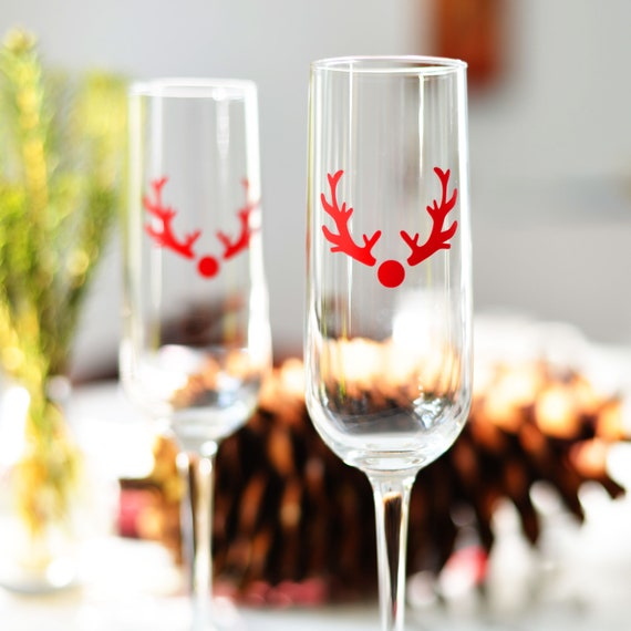 Rudolph the reindeer, Glass Decals, Holiday Vinyl Decals, Christmas Decoration, Christmas Decals.