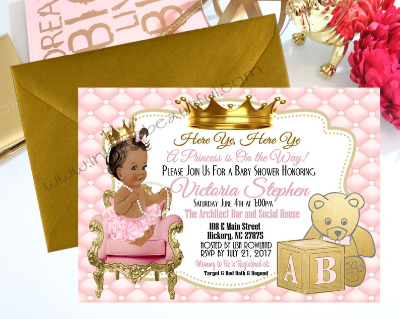 PRINTABLE Princess Baby Shower Princess Baby Shower Invite ...