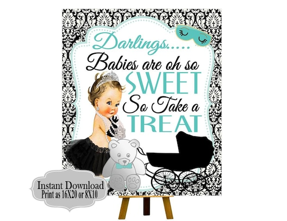 DIGITAL FILE Babies are oh so Sweet please Take a Treat Audrey Collection Candy Bar Sign Baby Shower Baby and CO