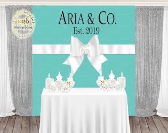 DIGITAL FILE Paris Blue Backdrop, Bride and CO, Bridal Shower, Baby Co, Store Backdrop, Candy Table Backdrop, Photo Backdrop, Banner