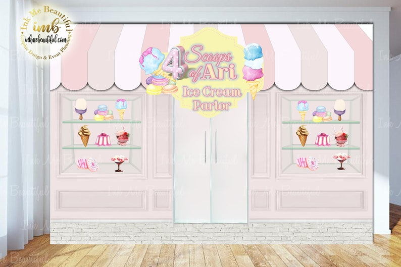 DIGITAL FILE Ice Cream Shop  Sweet Shoppe Candy Table image 0