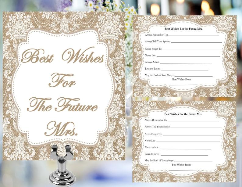 printable bridal shower digital advice cards best wishes
