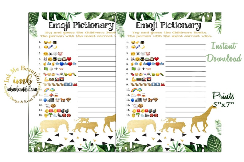 DIGITAL FILE  Emoji Pictionary Children's Book Baby image 0
