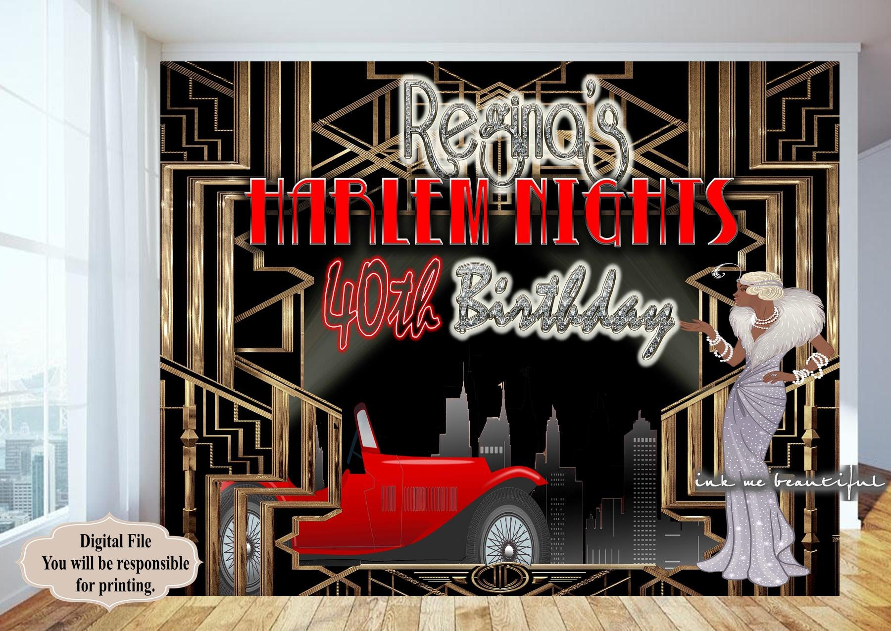 PRINTABLE Great Gatsby Harlem Nights Roaring 20s A Little   Etsy