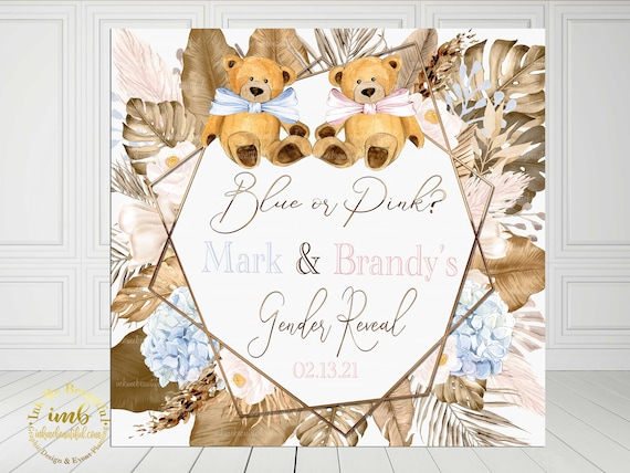 Nuetral Shades EDITABLE Teddy Bear Old Wives Tale Sign Teddy Bear Can Bearly Wait to Meet You Boho Theme Gender Reveal
