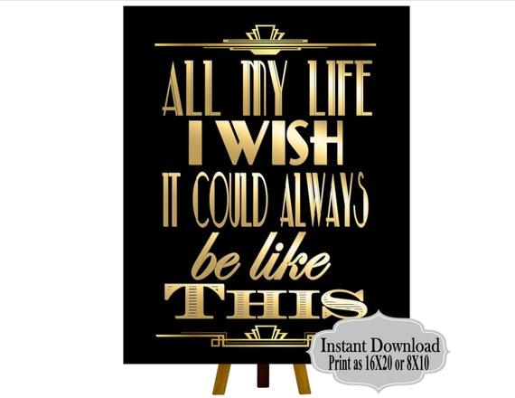 Druckbare Gatsby Hochzeit Schilder Gatsby Party Dekoration Etsy