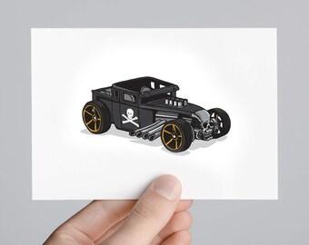 "Hot Wheels Bone Shaker Art Print 5x7"" - Limited run"