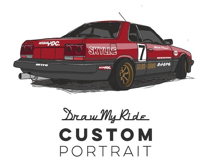 Featured listing image: Custom Car Portrait and A3 Print of you Car! - Perfect Christmas gift for for anyone who loves their Car!