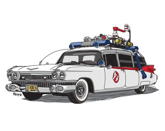 Ghostbusters Ecto 1 - Iconic move cars collection