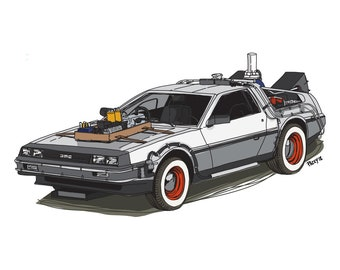 Back to the Future 3 DeLorean - Iconic move cars collection