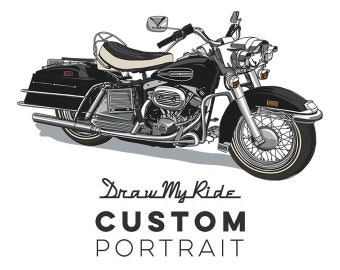 Custom Illustration and A3 Print of you Motorcycle! - Perfect Christmas gift for for anyone who loves their moto!