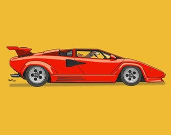 Bullet cruising down Wallstreet in his red Lamborghini! Dogs Driving Things Series 5